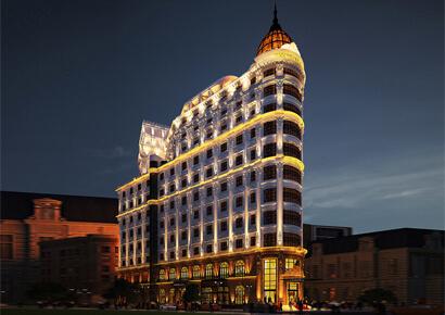 khách sạn kết hợp trung tâm thương mại