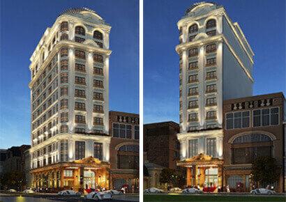 Mẫu khách sạn cổ điển 15 tầng