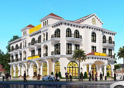 thiết kế khách sạn 2 sao tân cổ điển