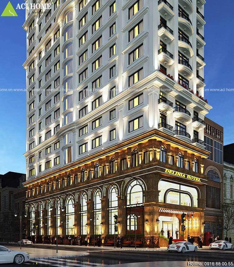 sảnh khách sạn 15 tầng đẹp