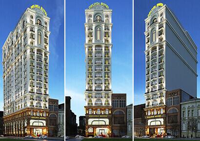 thiết kế khách sạn 15 tầng