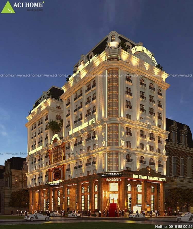 thiết kế khách sạn 12 tầng
