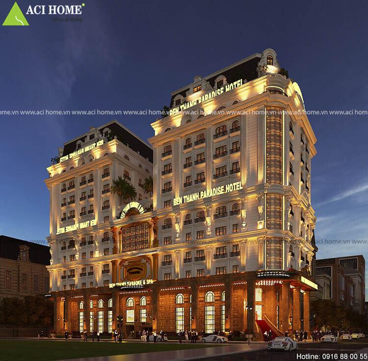 Mặt tiền khách sạn Ben Thanh Paradise Hotel