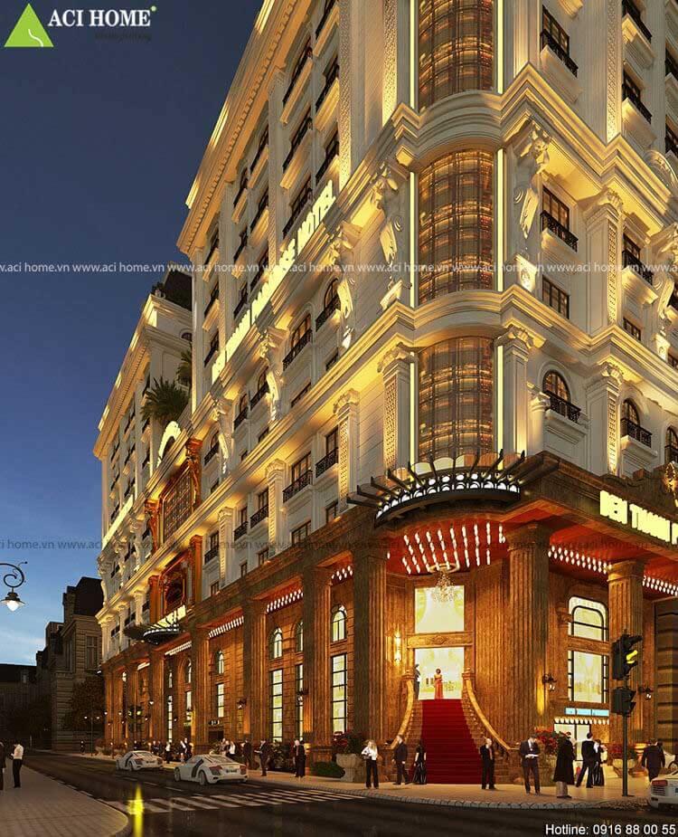 sảnh chính khách sạn cổ điển Ben Thanh Paradise Hotel