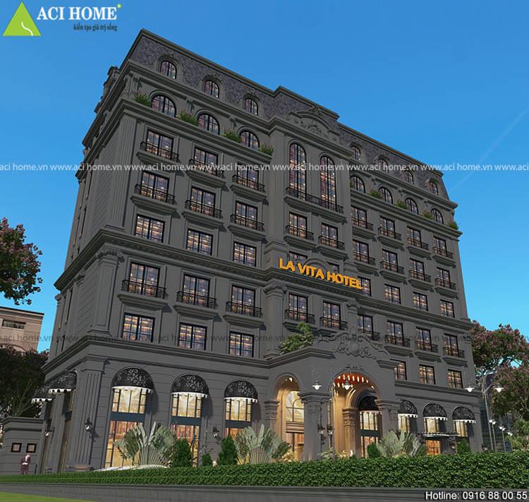 khách sạn tone Đen