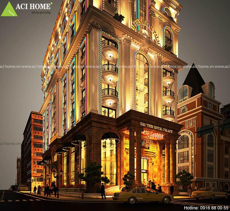 sảnh chính mẫu khách sạn 3 sao