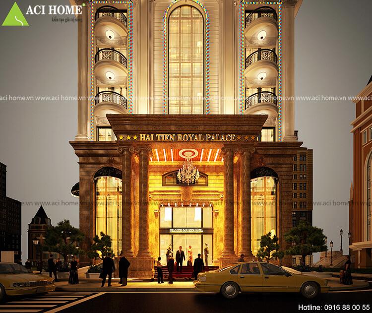 sảnh chính khách sạn đẹp