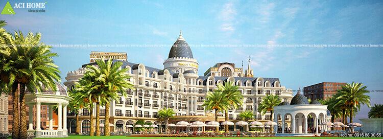 mẫu khách sạn 6 tầng đẹp
