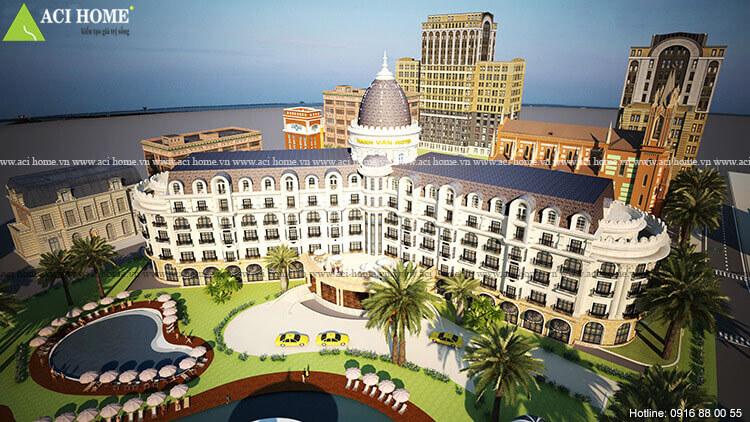 Hải Tiến hotel nhìn từ trên cao