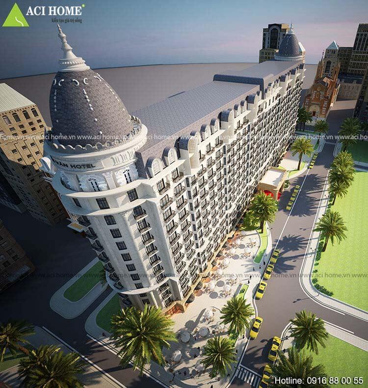 Thanh Vân hotel chiều cao 13 tầng