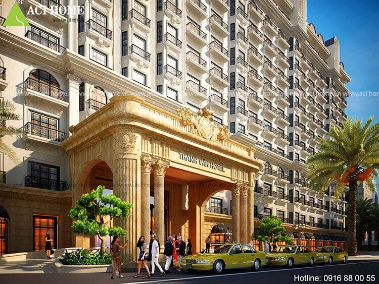 sảnh chính khách sạn Thanh Vân