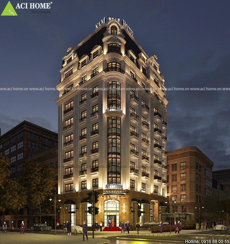 khách sạn chiều cao 10 tầng