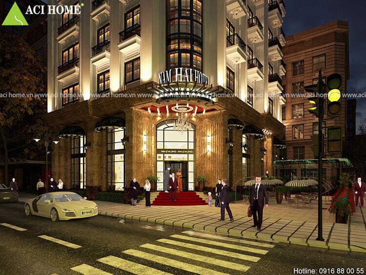 sảnh chính của khách sạn Nam Hải