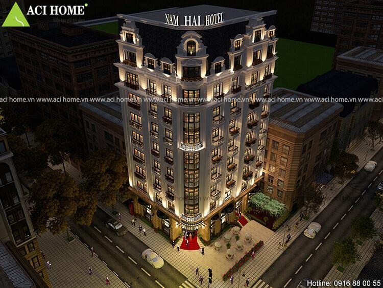 chiều cao của khách sạn