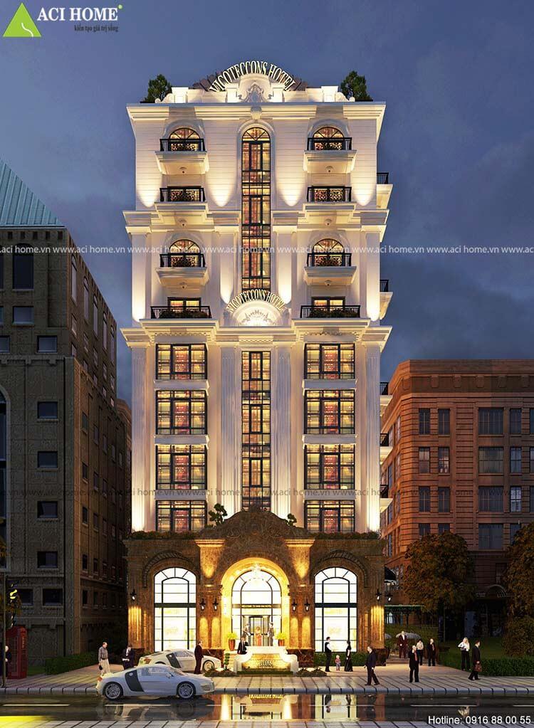 mặt tiền khách sạn 10 tầng