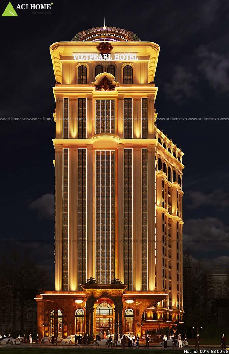 Chiều cao khách sạn 17 tầng