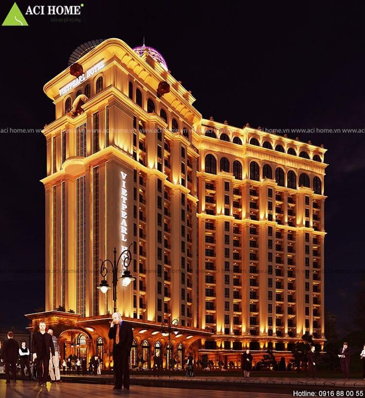 vẻ đẹp của công trình khách sạn cổ điển