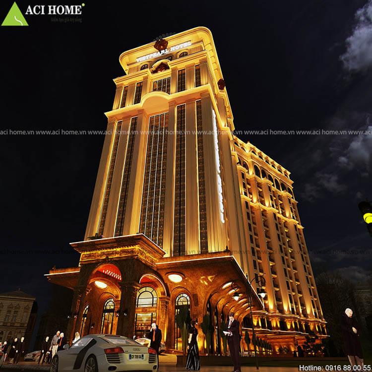 sảnh chính khách sạn 17 tầng