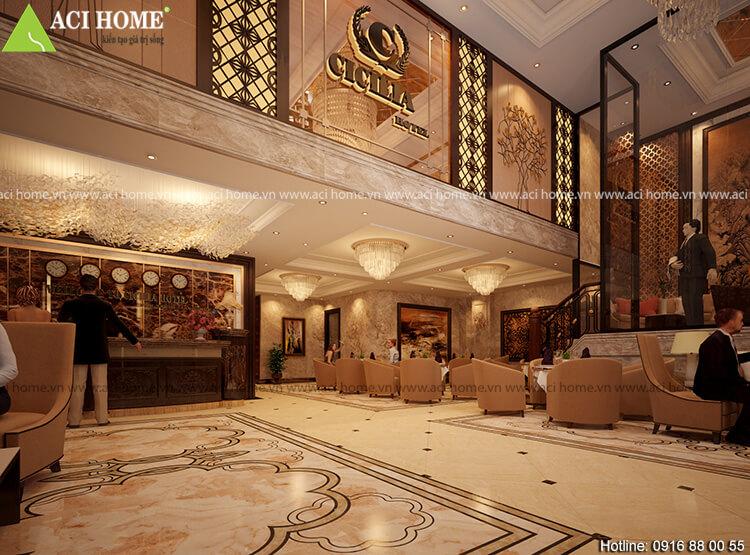 nội thất phòng chờ khách sạn