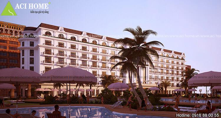 Gold Beach Hotel co hồ bơi ngoài trời