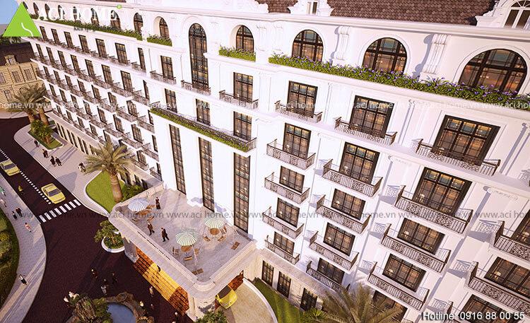 Khách sạn chiều cao 9 tầng