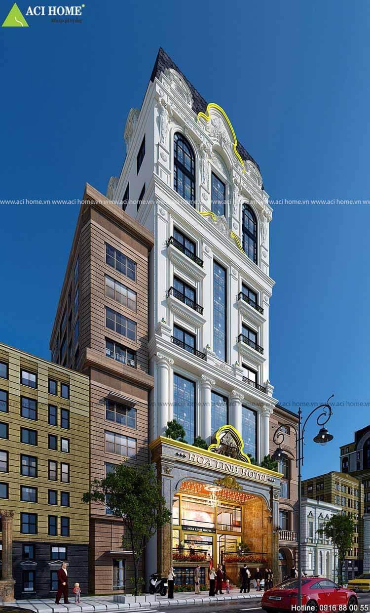 mặt tiền khách sạn 12 tầng