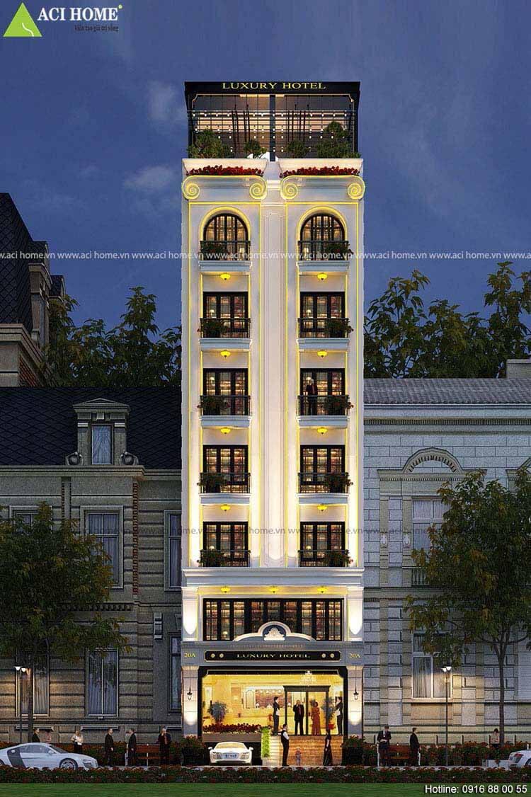 mặt tiền khách sạn 8 tầng