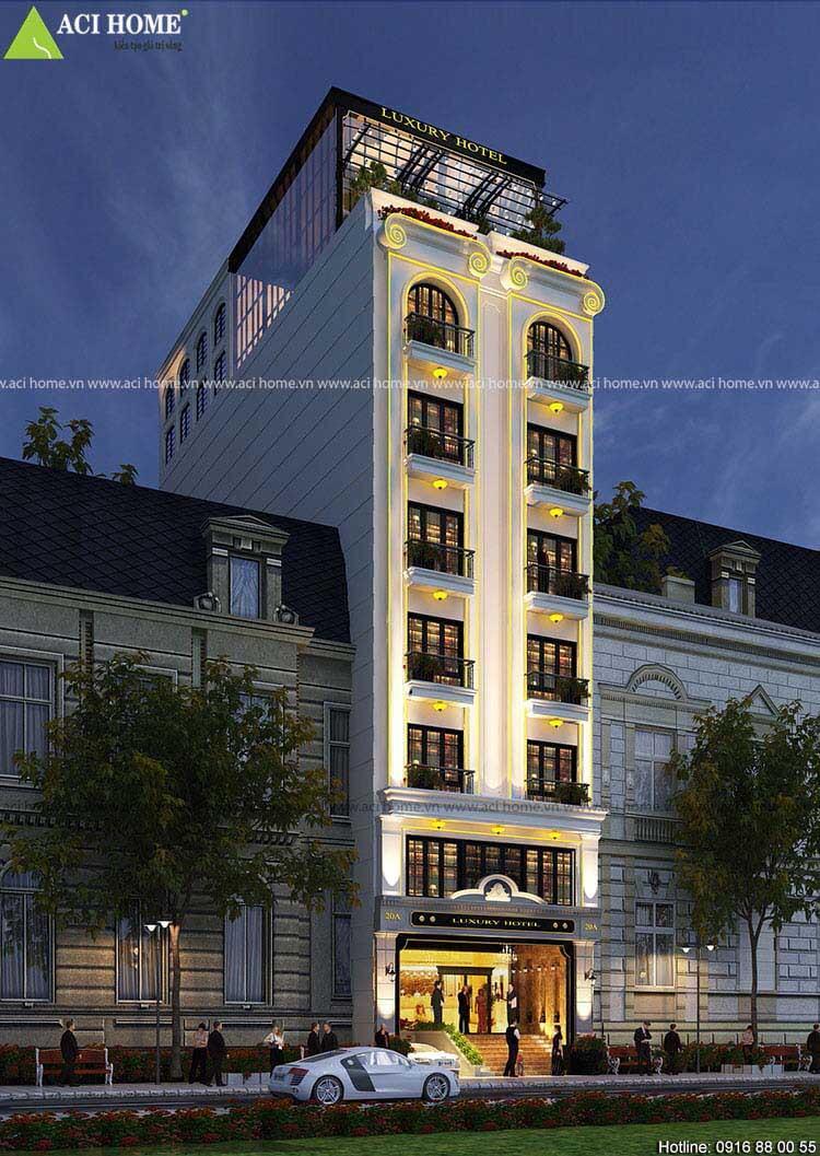 công trình khách sạn 3 sao
