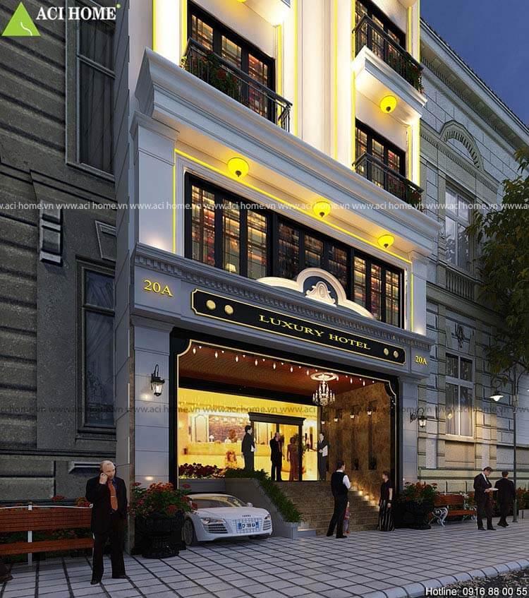 sảnh chính khách sạn Pháp
