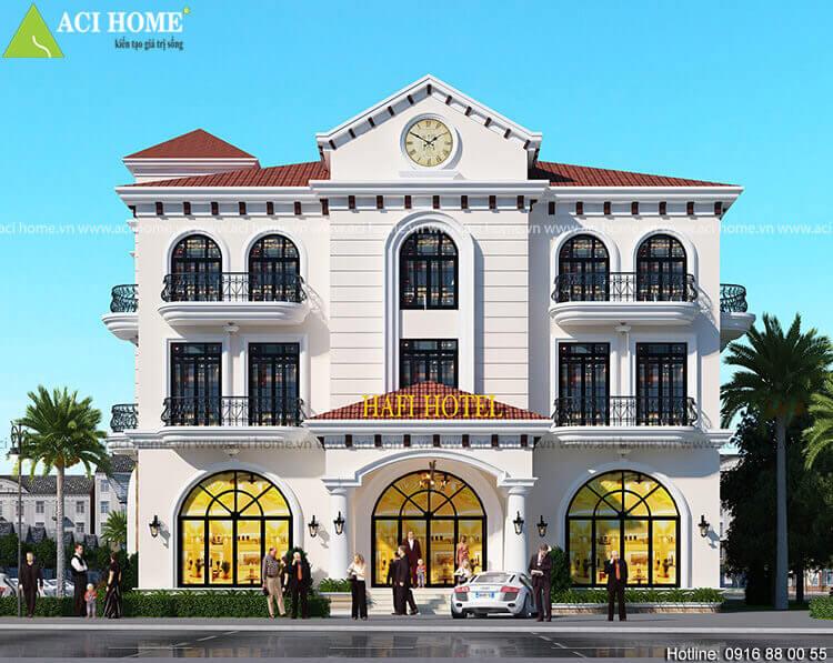 khách sạn tần cổ điển 3 tầng