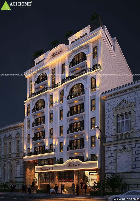 thiết kế nhà hàng kết hợp khách sạn