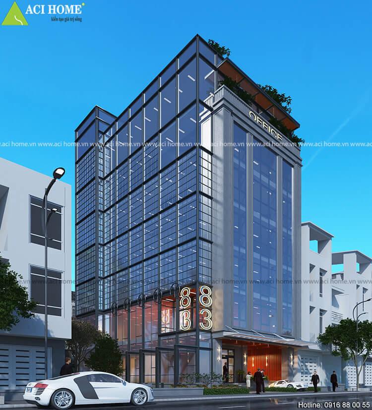 mẫu thiết kế tòa nhà văn phòng