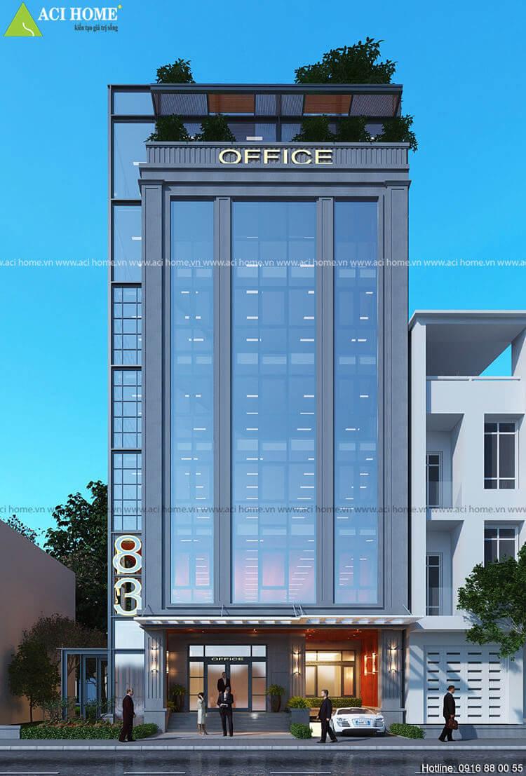 mặt tiền tòa nhà văn phòng
