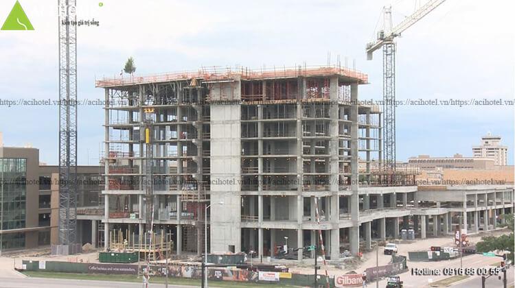 Thi công xây dựng khách sạn Aci Hotel