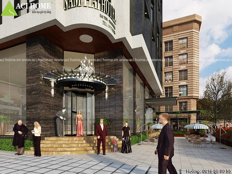 sảnh chính khách sạn 10 tầng