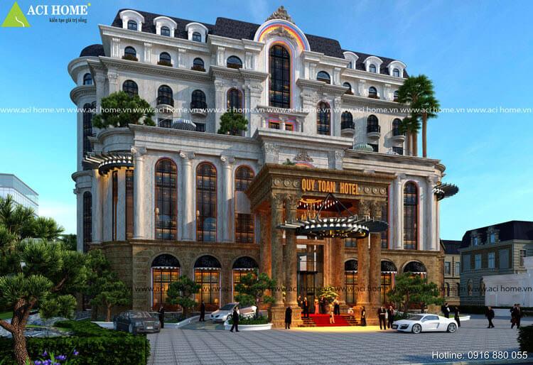 Thiết kế khách sạn Pháp 7 tầng