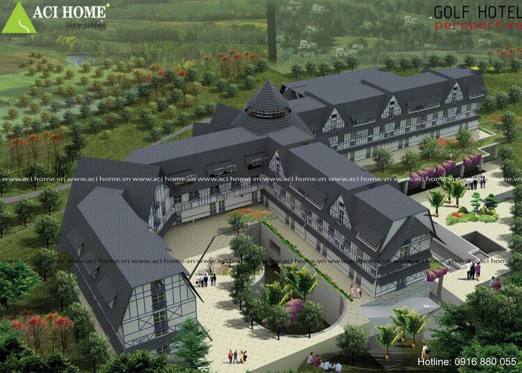 Thiết kế khách sạn Châu Âu tại Đà lạt