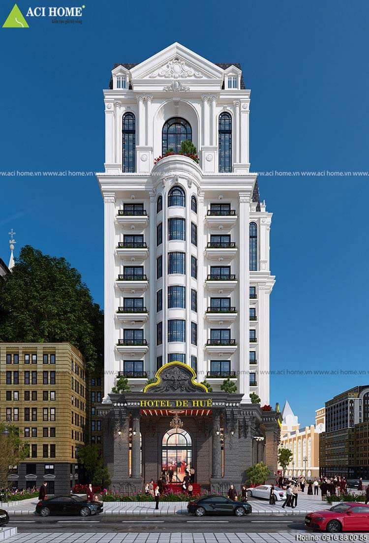 khách sạn mặt tiền 15m