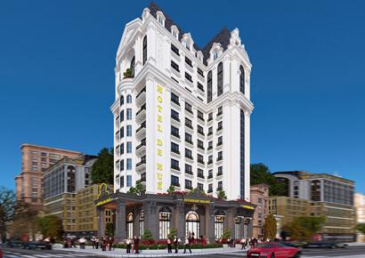 Thiết kế khách sạn mặt tiền 15m