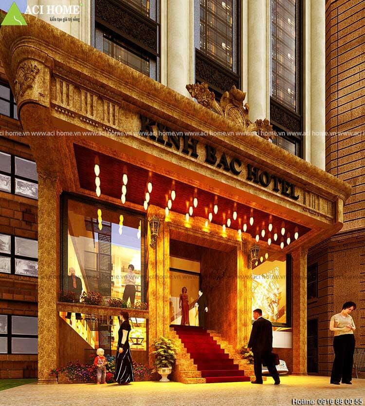 bản thiết kế khách sạn mini