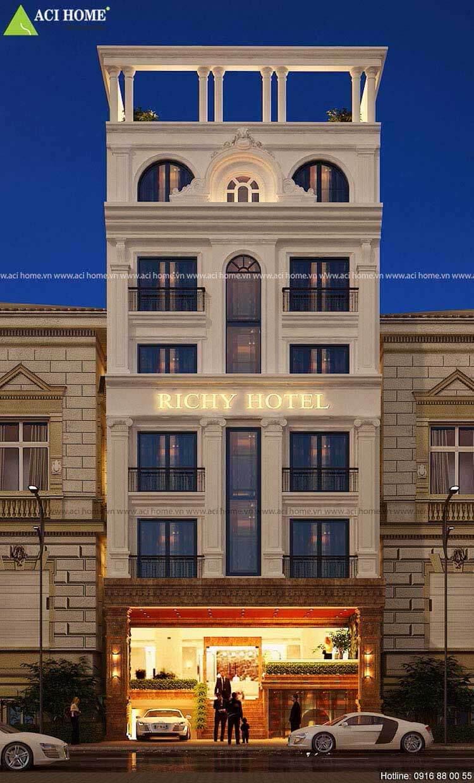 mặt tiền khách sạn mini 6 tầng