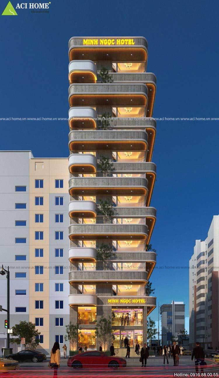 Dự án thiết kế khách sạn 2 mặt tiền