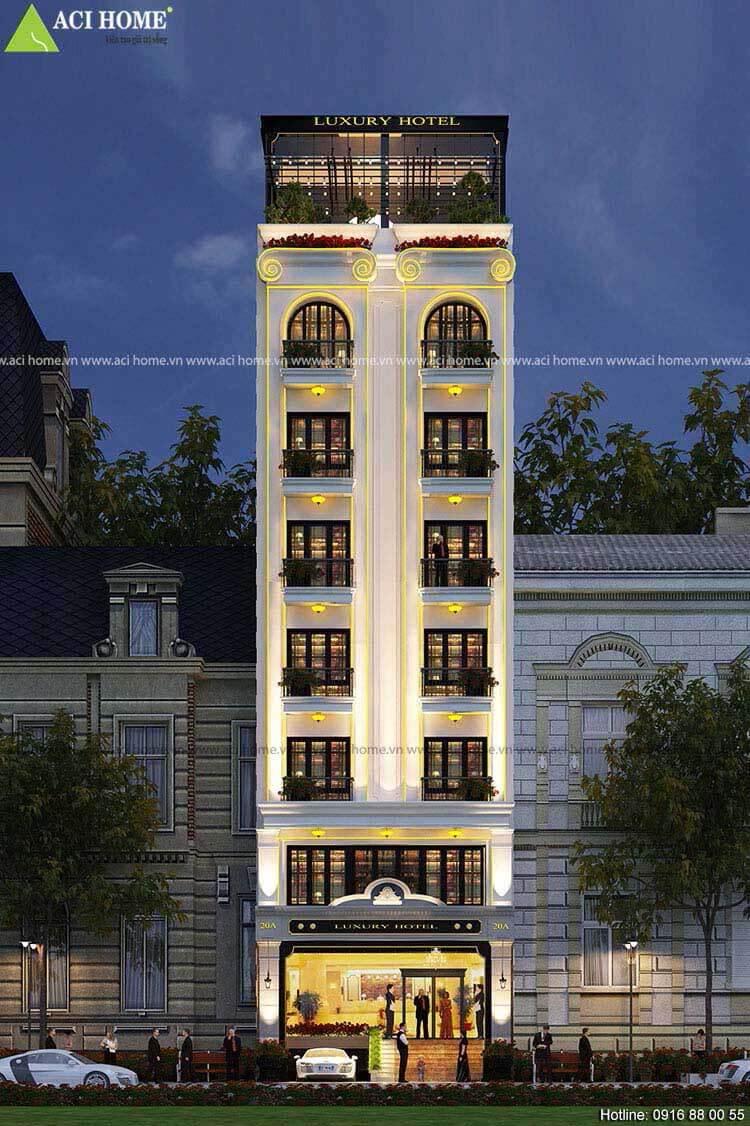 Một công trình khách sạn 5x20