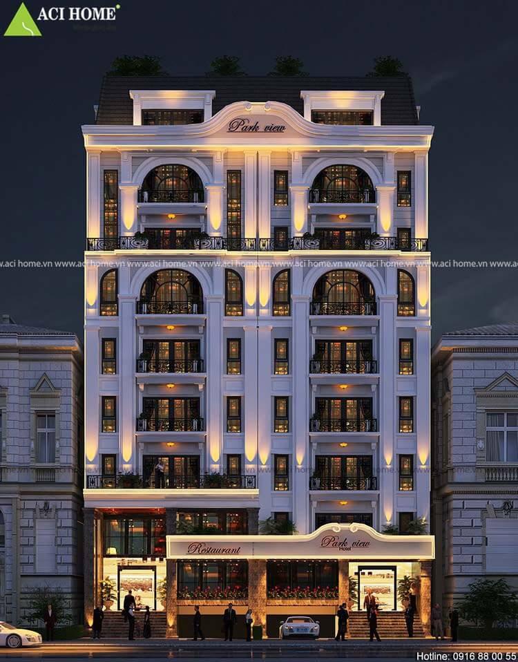 khách sạn mini 7 tầng 1 tum