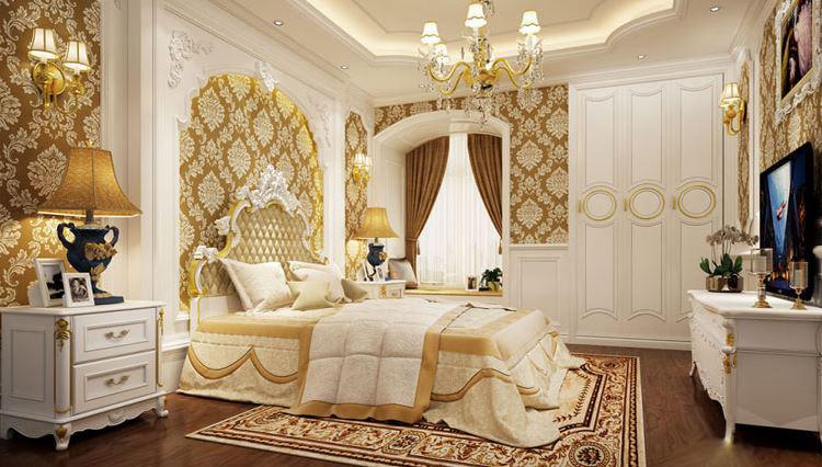 Mẫu giường 5 sao cổ điển