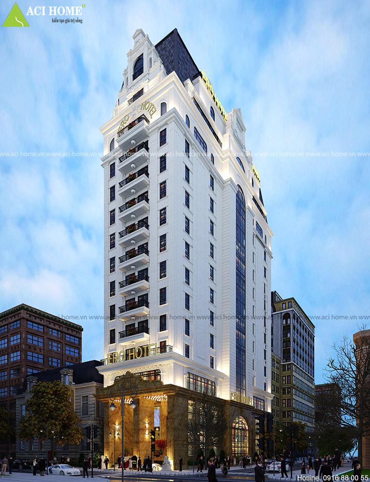 Thiết kế khách sạn 4 sao tại Mỹ Đình