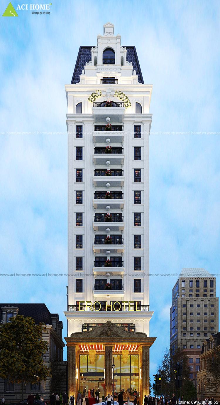 Thiết kế khách sạn 18 tầng tại Hà Nội