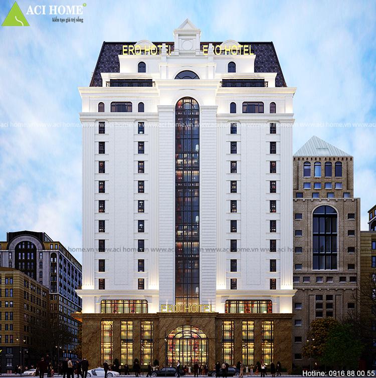 Thiết kế khách sạn 18 tầng - 4 sao tại Mỹ Đình
