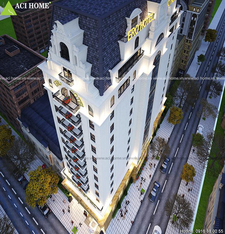 Thiết kế khách sạn 4 sao tại Mỹ Đình-Ero Hotel
