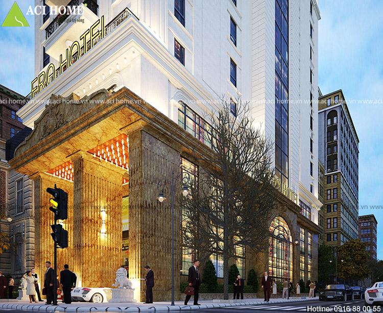 Thiết kế khách sạn Châu Âu tại Hà Nội